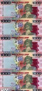 LOT-Sierra-Leone-5-x-1000-Leones-2010-Pick-30-UNC