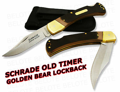 Schrade Old Timer Delrin Golden Bear Lockback Knife 6ot on Sale
