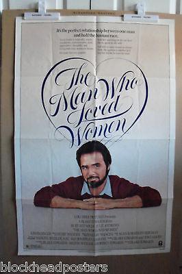 THE MAN WHO LOVED WOMEN~1 SHEET~ORIG~MOVIE POSTER~1983~BURT REYNOLDS & J ANDREWS