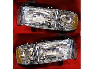 NEW 94-01 DODGE RAM PICKUP 1500 2500 3500 HEADLAMPS HEADLIGHTS PAIR SET NEW