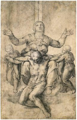Michelangelo Drawings: Christ and Pieta - FineArt Print