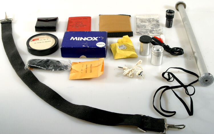 CAMERA EQUIP, MISC-TRIPOD ACCS,STRAPS,FILM CANS-LOT/15