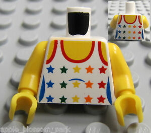 NEW-Lego-City-Female-Girl-Minifig-TORSO-w-Rainbow-Stars