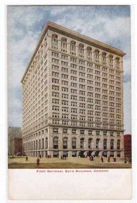 First National Bank Chicago Illinois 1910C Postcard