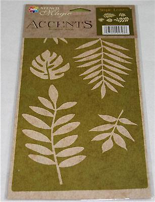 Delta Stencil Magic - Accents - Simple Leaves Design