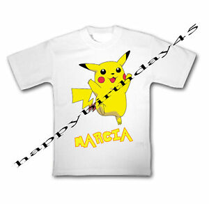 Pokemon-Pikachu-T-SHIRT-PERSONNALISE-ENFANTS