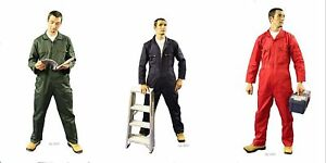 NEW-Good-Quality-Zip-Front-Boilersuit-Coverall-Overalls-Choice-Colour-Size