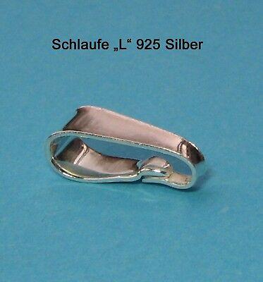 """Kettenschlaufe """"L"""" 925 Silber Schmuckzubehör Schlaufe Öse"""