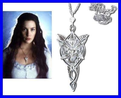 Lotr Lord Rings Arwen Pendant Evenstar Silver Official Certificate Velvet Bag