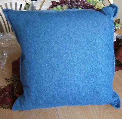 Shamiana Jean Denim Blue 18 Decorator Pillow