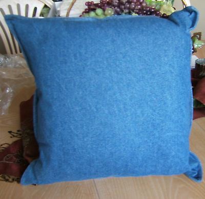Shamiana Jean Denim Blue 18 Decorator Pillow