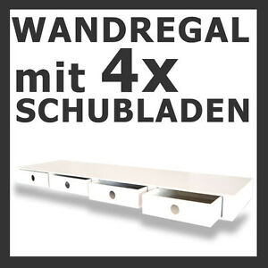 h ngeregal schubladen regal holzregal dekoregal wandregal ablage weiss neu 85 ebay. Black Bedroom Furniture Sets. Home Design Ideas