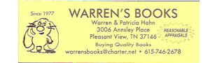 bigdaddyhahn aka Warrens Books