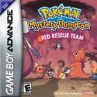 Pokemon Mystery Dungeon: Red Rescue Team (Nintendo Game Boy Advance, 2006) - European Version