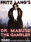 Dr. Mabuse the Gambler (DVD, 2006, 2-Disc Set, Restored version)