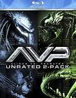 Alien vs. Predator/Alien vs. Predator: Requiem (Blu-ray Disc, 2009, 2-Disc Set, Unrated)