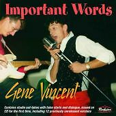 GENE-VINCENT-Important-Words-CD-NEW-Sealed-Rockabilly-Rock-n-Roll-1950s