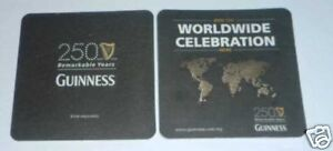 MALAYSIA-Beer-Mat-Coaster-GUINNESS-STOUT-250-Remarkable-Years-2009-Limited-RARE