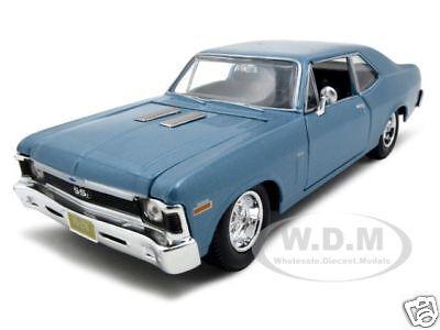 1970 CHEVY NOVA SS COUPE BLUE 1:24 DIECAST MODEL CAR BY MAISTO 31262