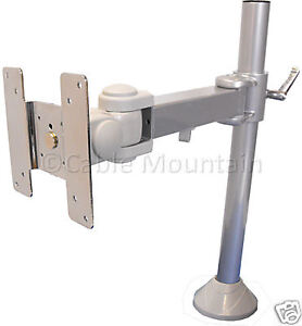 Silver-Bolt-Down-TFT-LCD-TV-Monitor-Vertical-Desk-Mount-Bracket-Arm