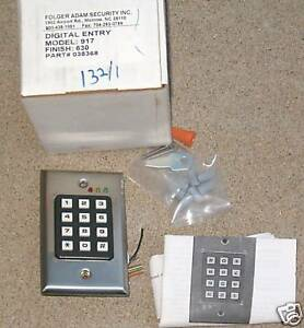 917 digital entry keypad electronic lock folger adam ne ebay. Black Bedroom Furniture Sets. Home Design Ideas