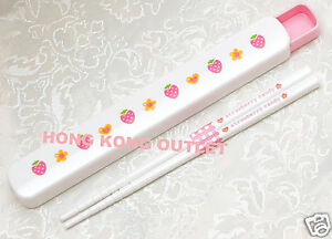 Japan-Strawberry-Plastic-Chopsticks-Case-B18f