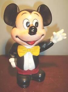 Vintage Rubber Mickey Mouse Bank Ebay