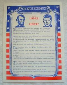 LINCOLN-amp-KENNEDY-Presidential-Coincidence-POSTER-Sign