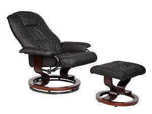 New-PU-Leather-Recline-Office-Chair-Desk-Task-Relax-Sofa-w-Free-Ottoman-O3