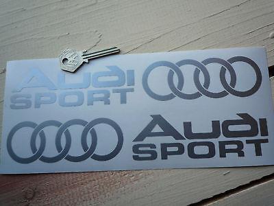 AUDI SPORT Car STICKERS 250mm Pair Cut Suits QUATTRO GT 100 TT S6 S8 S5 S4 S3 S7