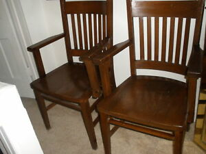 antique mission style barber shop waiting chairs two ebay