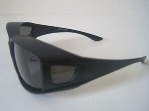 Polarized Sunglasses cover/ put/ wear over prescription Glasses - fit driving #M