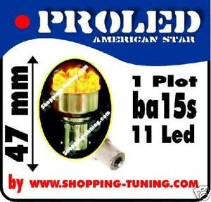 2-ampoule-11led-orange-culot-compatible-R5W-R10W-P21W