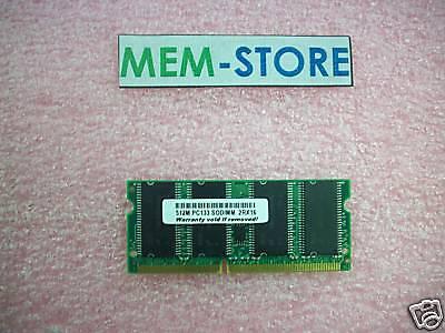 512mb Pc133 Sodimm Memory Sharp Mv10 Mv10w Mv12 Mv12w