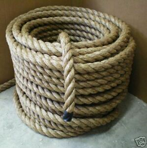 1-1-2-Diameter-MANILA-ROPE-CUT-TO-LENGTH-Boat-Dock-FITNESS-EXERCISE-UNDULATION