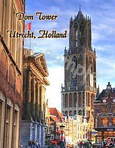 Holland-UTRECHT-DOM-TOWER-Souvenir-Fridge-Magnet