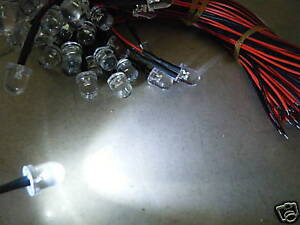 1p-Super-Bright10000-MCD-10mm-3v-White-Pre-Wired-Wire-Car-Boat-Truck-Led-10WL-hy
