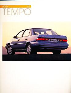 1993 Ford Tempo CDN Original Sales Brochure Book