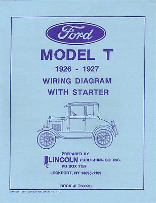 1926-27 Ford Model T Wiring Diagram With Starter