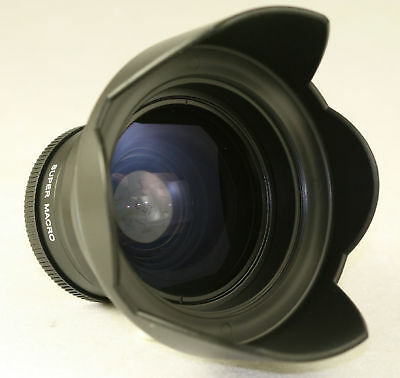 0.42x Wide Angle Fisheye Lens For Panasonic 20mm Ii 1.7 Lumix 12-32mm 14-42mm