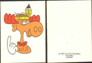 1975 BULLWINKLE Jay Ward Greeting card UNUSED RARE