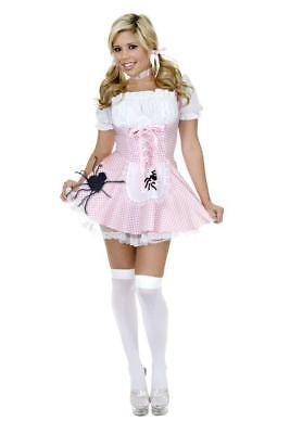 Little Miss Muffet Dress (Little Miss Muffet Fairy Tale Storybook Fancy Dress Up Halloween Adult)