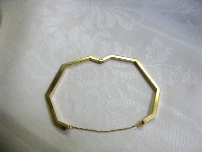 Diamond-Bangle-Octagon-ShapeBracelet-14k-Yellow-Gold