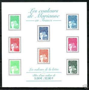 TIMBRE FRANCE BLOC N° 42 ** MARIANNES EN FRANCS 2/2
