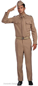 MENS-1940s-WW2-US-ARMY-SOLDIER-GI-UNIFORM-FANCY-DRESS-COSTUME-OUTFIT-NEW