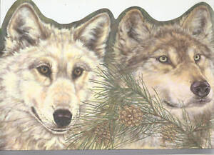HEADS-OF-WOLVES-PINE-CONE-bluedge-Wallpaper-Wall-bordeR