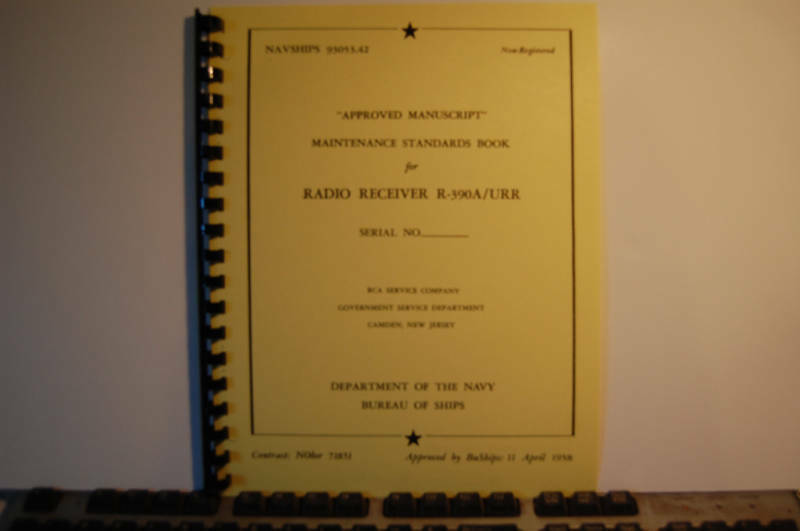 Collins R-390a Receiver Maintenance Standards Manual