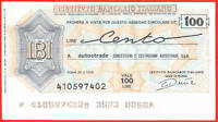 Mini Assegno Istituto Bancario Italiano Lire 100 - 1976 -  - ebay.it