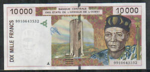 WEST-AFRICAN-Ivory-Coast-10000-Francs-1999-XF-AU-P-114Ah-Circulated-Notes