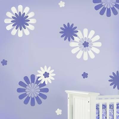 Daisy Crazy 1 Stencil Wall Pattern Kit - 3-piece - Fun & Easy Diy Nursery Decor